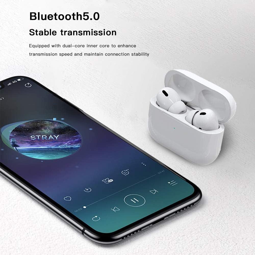 Bluetooth Kopfh/örer kabellose Kopfh/örer Sportkopfh/örer IPX7 wasserdichte,Noise-Cancelling-Kopfh/örer,Ger/äuschisolierung,mit 24H Ladek/ästchen und HD Stereo Mikrofon,f/ür Apple Airpod pro//Android