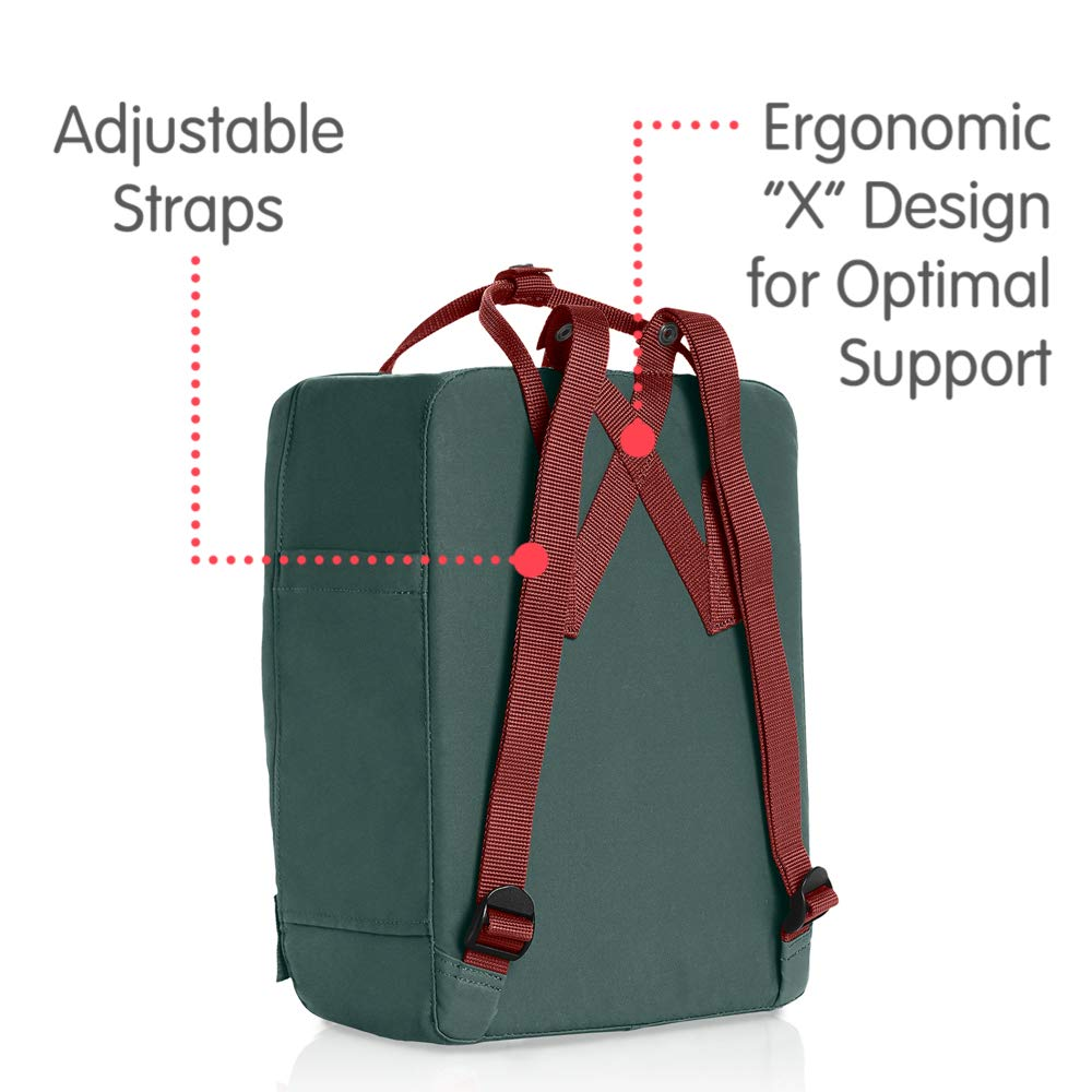 Fjallraven - Kanken Classic Backpack for Everyday, Forest Green/Ox Red by Fjallraven (Image #3)