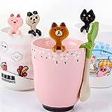 kilofly Kids Animal Coffee Tea Stirrer Small