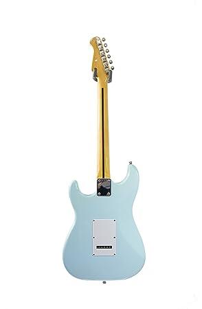 MEMPHIS by Quincy deluxe strat guitarra eléctrica estilo azul claro: Amazon.es: Instrumentos musicales