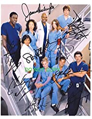 Grey's Anatomy tv show cast reprint signed autographed photo RP Greys