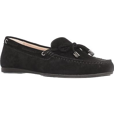 c511807302fadb Michael Michael Kors Womens Sutton Moc Leather Closed Toe, Black, Size 8.0