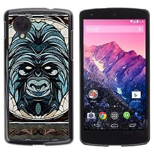 YOYOSHOP [Beautiful & Sophisticated Gorilla Illustration] LG Google Nexus 5 Case