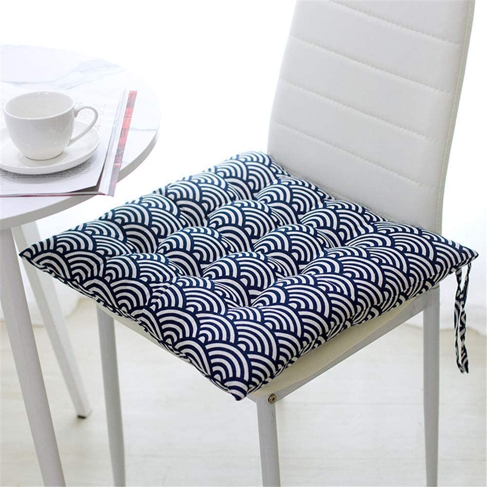 ufficio 40 x 40 x 8 cm G per sedie da pranzo interni ed esterni soggiorno patio giardino Rotondo MoreLucky Set di 4 cuscini per sedie con lacci cucina