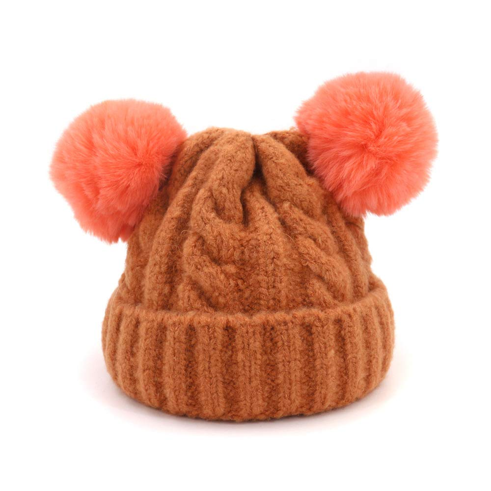 3c6ca531a7b98 Amazon.com  JCH Baby Thickening Wool Hat Hair Ball Cap Infant Warm Warm  Head Trend Cap for Children (Color   5