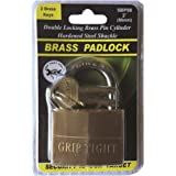 Grip Tight Tools Solid Brass Padlock, SBP08