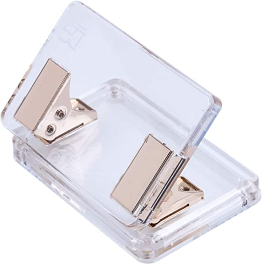- Anniversary Gifts Idea 10 Sheets Capacity Curved Model Rose Gold /& Acrylic Clear 2 Holes Paper Punch by Draymond Story