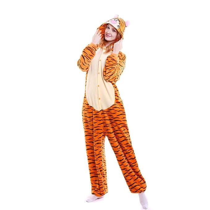 koly Pijamas Animal Entero Unisex para Adultos Niños con Capucha Ropa de Dormir Traje de Disfraz