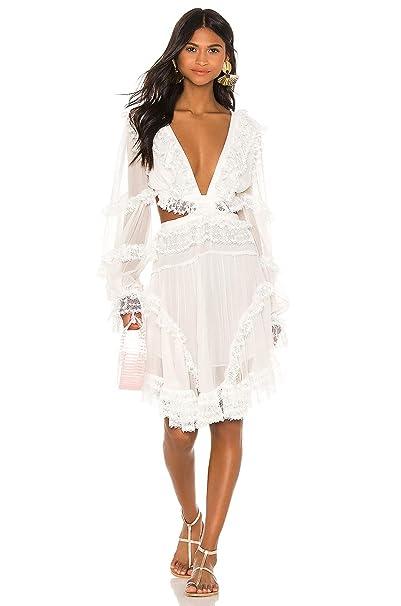 Amazon.com: DIOR BELLA Vestido de encaje de gasa con ...
