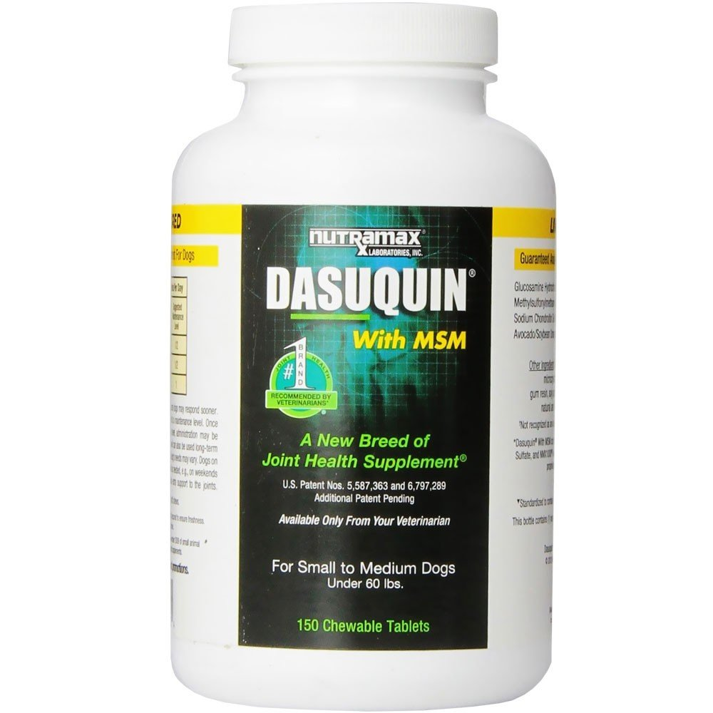 Nutramax Dasuquin with MSM Chewable Tablets for Dogs Under 60 Pounds, 150 count 2 Pack (300 tablets total)