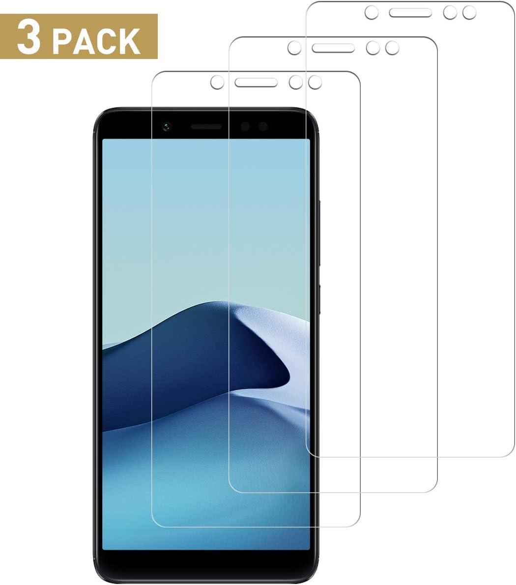 SNUNGPHIR Protector de Pantalla para Xiaomi Redmi Note 5 Cristal Templado, [3 Piezas] [9H Dureza] Vidrio Templado Screen Protector para Xiaomi Redmi Note 5 [Admite la función de Huella Digital]
