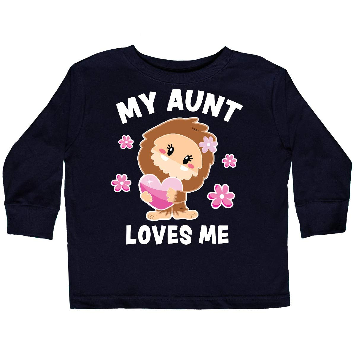 inktastic My Aunt Loves Me with Bigfoot Toddler Long Sleeve T-Shirt