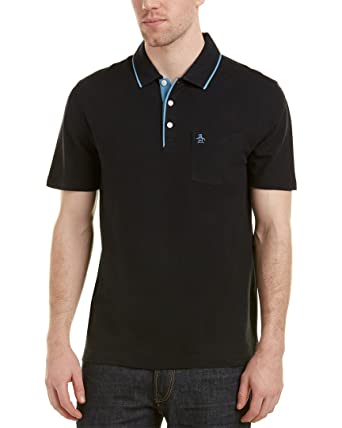 Amazon.com  Original Penguin Men s The Mearl S S Polo Shirt (Black ... edd7e090c90b8