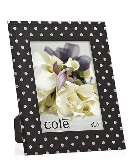 Amazon.com: Philip Whitney 5x7 Black And Pink Glitter Polka Dot ...