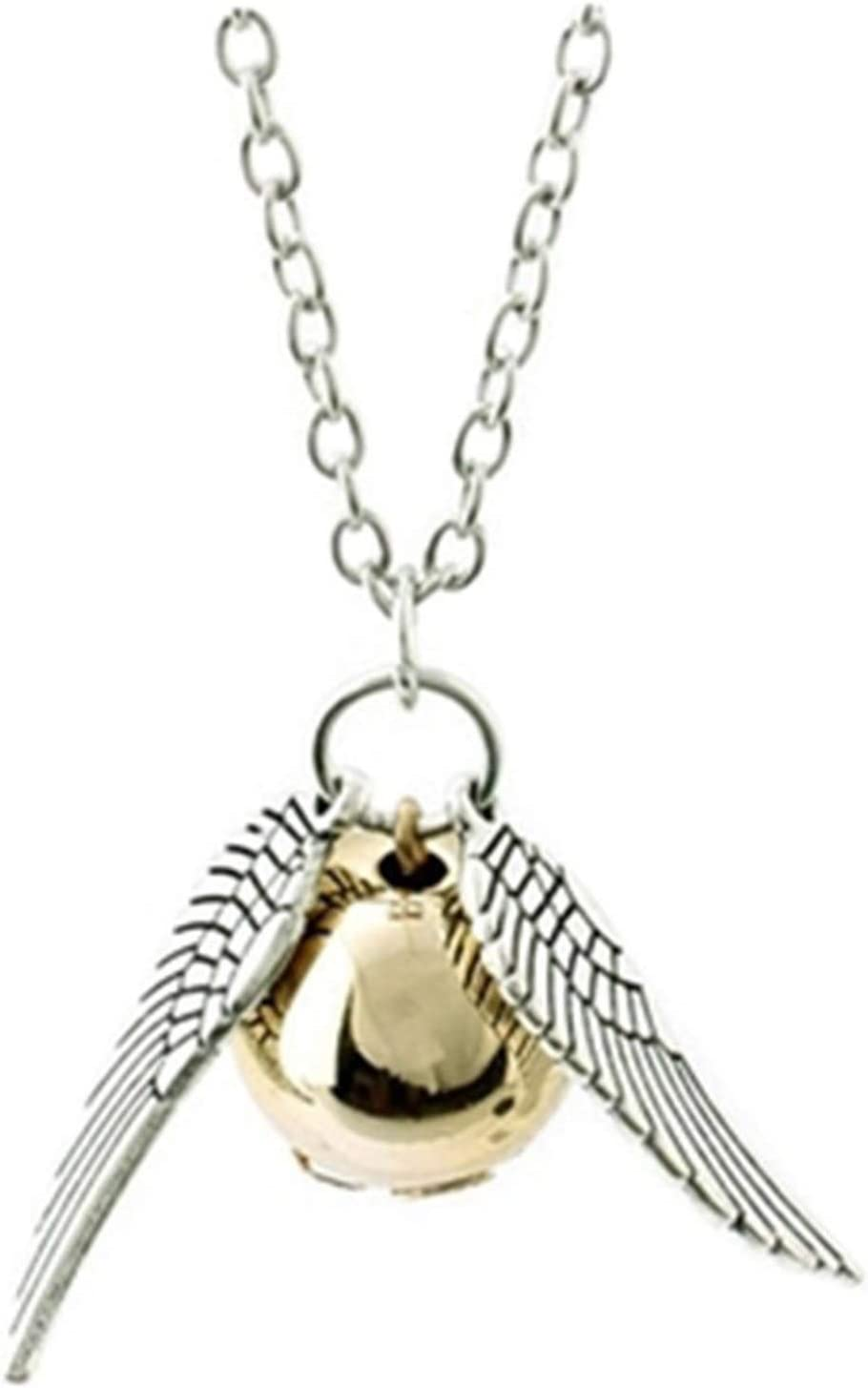 WMBDL Harry Potter Necklace Set Time Turner Deathly Hallows Golden Snitch Necklace for Harry Potter Fans Gifts Collection or Decorations Magical Cosplay Costume Jewelry Accessories (Silver)