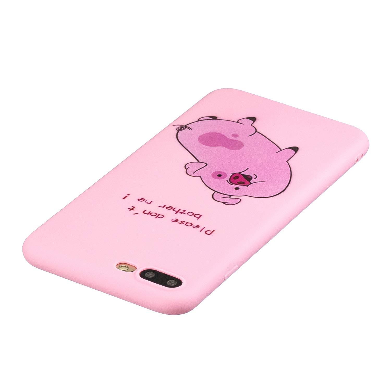 Everainy Kompatibel f/ür iPhone 7 Plus//iPhone 8 Plus Silikon H/ülle Matt Neu Ultrad/ünn H/üllen mit Schl/üsselband Handyh/ülle Gummi f/ür iPhone 7 Plus Sto/ßfest TPU Gel Sto/ßstange Cover rosa b/är