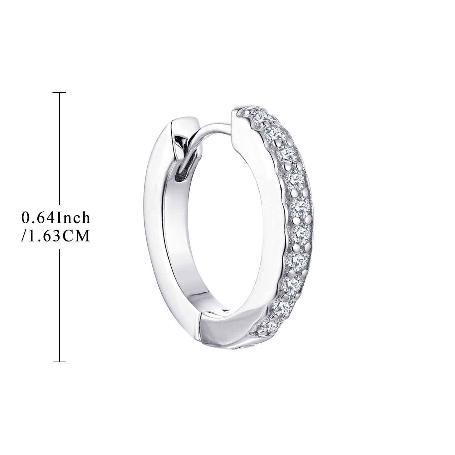 0.28 Cttw, H-I Color SI Clarity YL 14K White Gold Diamond Hoop Earrings