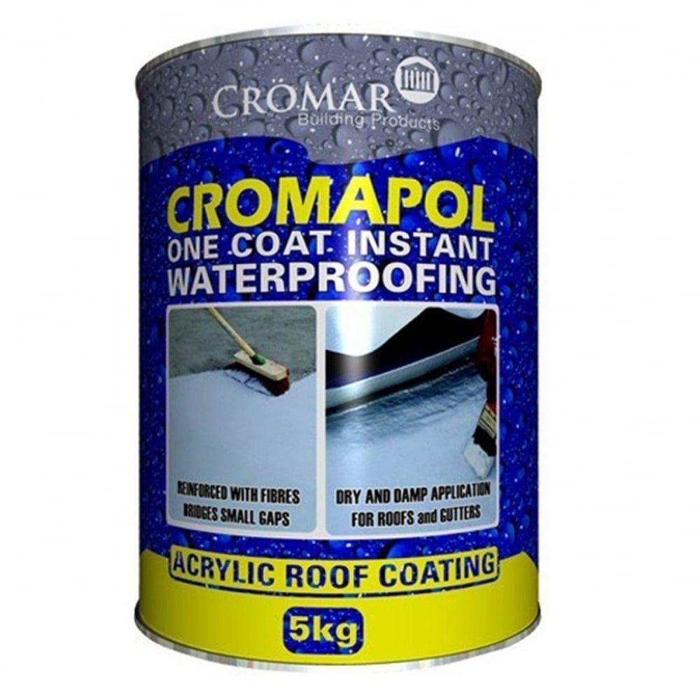 Cromapol Acrylic Waterproofing Coating Grey - 5 KG Cromar