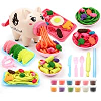 Clay Dough Tool Set, Plasticine Modeling Playset, Simulation Pig Noodles Machine Set, Creative DIY Plasticine Molding Set, Playsets Noodle Machine Fun Kitchen Toy for Kids Children