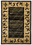 Rugs 4 Less Collection Southwest Kokopelli Native American Indian Area Rug Design R4L 4276 Black (5'X8')