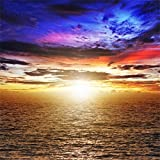 10x10ft Laeacco Vinyl Thin Photography Background Splendid Sea View Sunset Glow Theme Backdrop Photo Studio Props