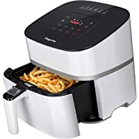 Bagotte Air Fryer XL 5QT, 1500W Electric Hot AirFryer Large Oven Oilless Cooker w/Cookbook, 6 Cooking Presets, LCD Digital Touchscreen, Auto Off, Nonstick Basket, Dishwasher Safe, ETL Listed, White