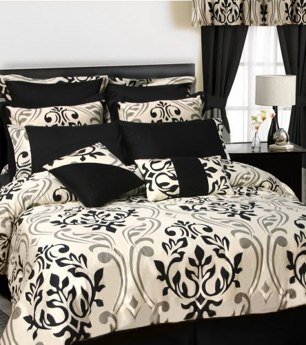 Tribeca Living Prague 12-Piece Cotton Bed in a Bag with D...