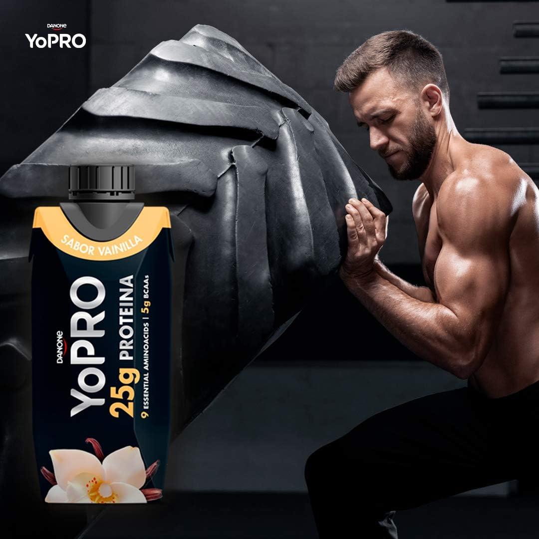 YoPRO Pack 8 unidades batido 25G de Proteína sabor vainilla de 330 ml - Total 8 x 330 ml