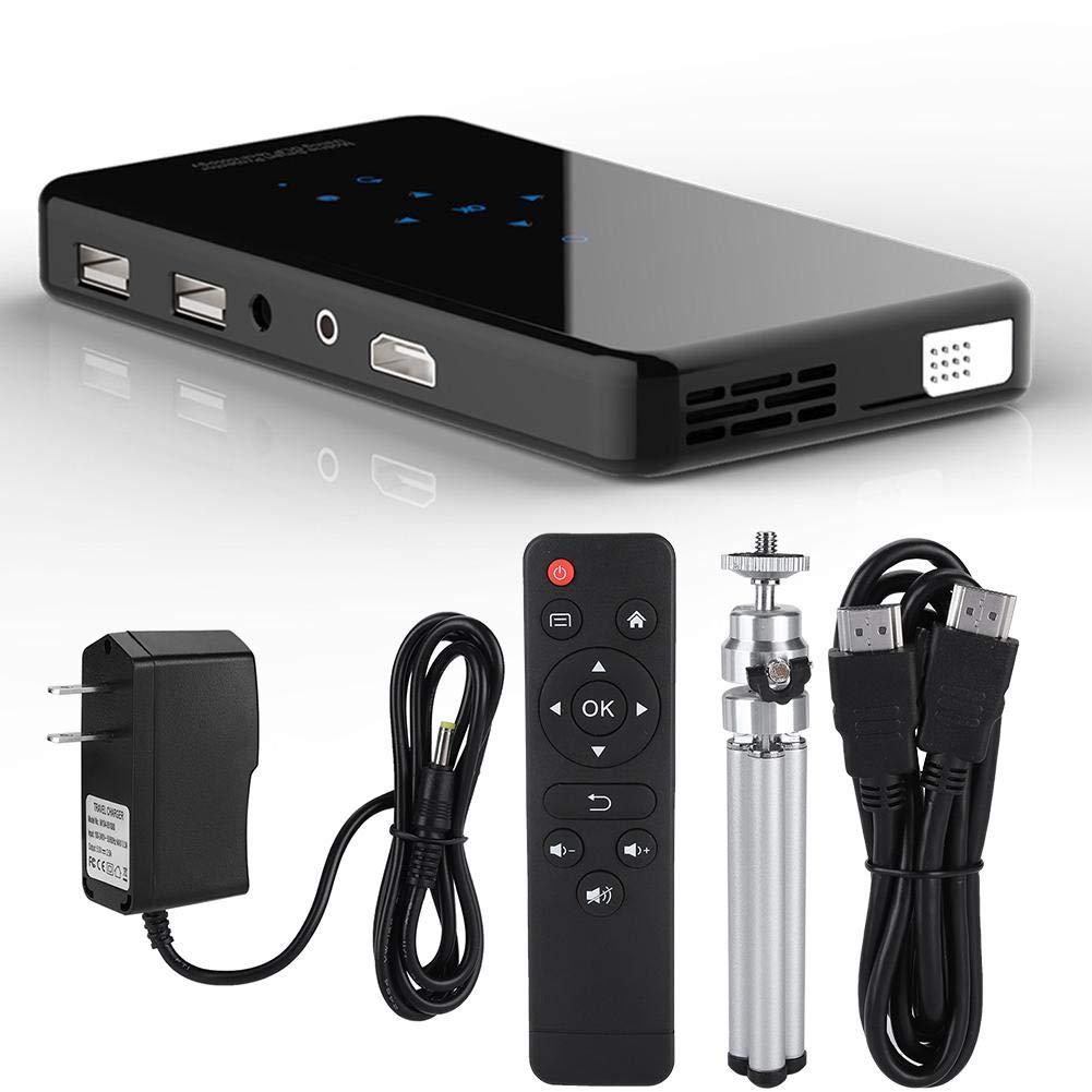 HD Bluetoothプロジェクター 三脚付き ミニワイヤレスプロジェクター BT 4.2 HD 1080P 2.4G WiFi + 360°リモートコントロール 5G AC付きWiFiモジュール ANDROID7.1システム用 より多くのアプリに対応, Tosuny5wf0r9b4in-01 B07QWV5ZZQ US