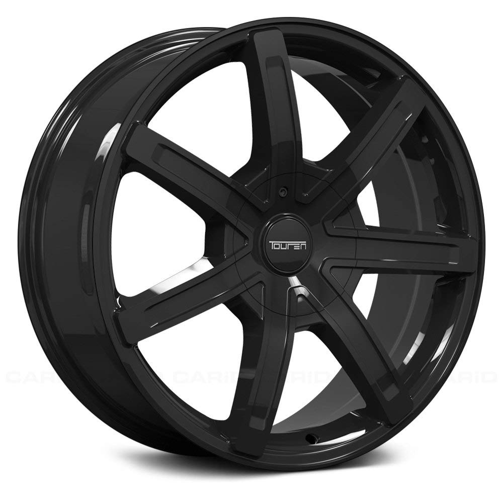TOUREN TR65 Wheel with Black (17 x 7.5 inches /6 x 106 mm, 20 mm Offset) The Wheel Group 3265-7737B