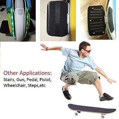 """ZUEXT 11/"""" x 50/"""" Clear Skateboard Grip Tape Longbo Waterproof Scooter Grip Tape"""