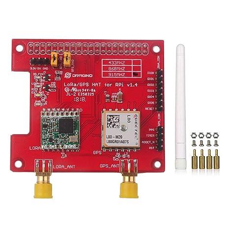Dragino LoRa GPS HAT 915Mhz V1 4 for Raspberry Pi 2 Model B/Raspberry Pi 3,  Built-in Temperature Sensor LNA, Support DGPS SBAS SDK Command RFW95W