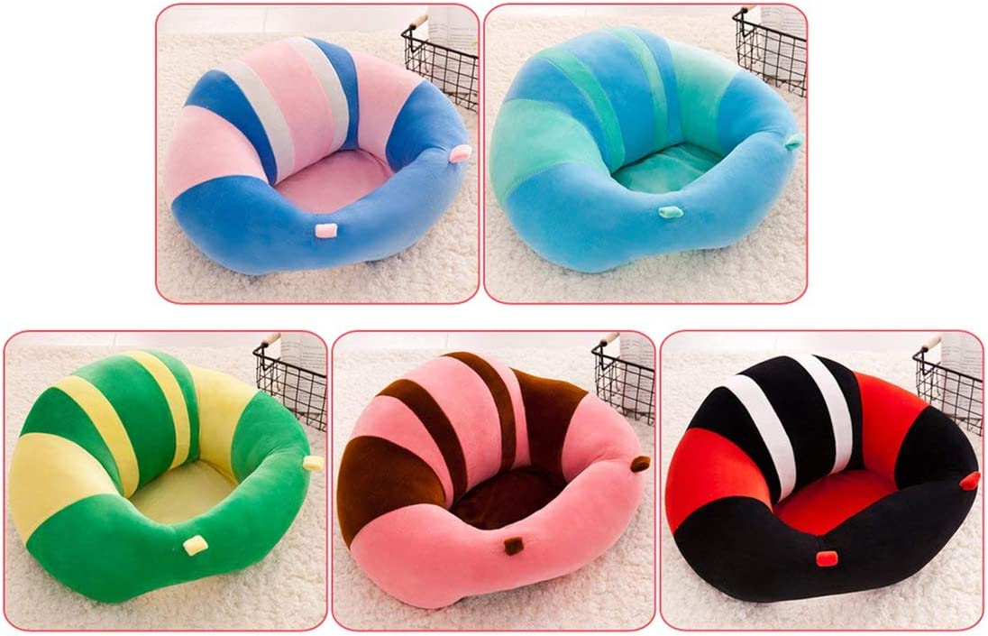Comfortable Cotton Baby Support Seat Plush Sofa Colorful Soft Baby Infant Learning to Sit Chair Keep Sitting Posture Chair