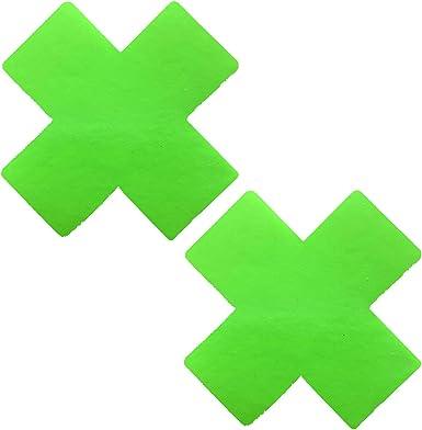 Neva Nude Apple Fruitella Neon Green Blacklight Wet Vinyl I Heart U Nipztix Pasties Nipple Covers