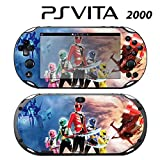 Decorative Video Game Skin Decal Cover Sticker for Sony PlayStation PS Vita Slim (PCH-2000) - Power Rangers Super Megaforce
