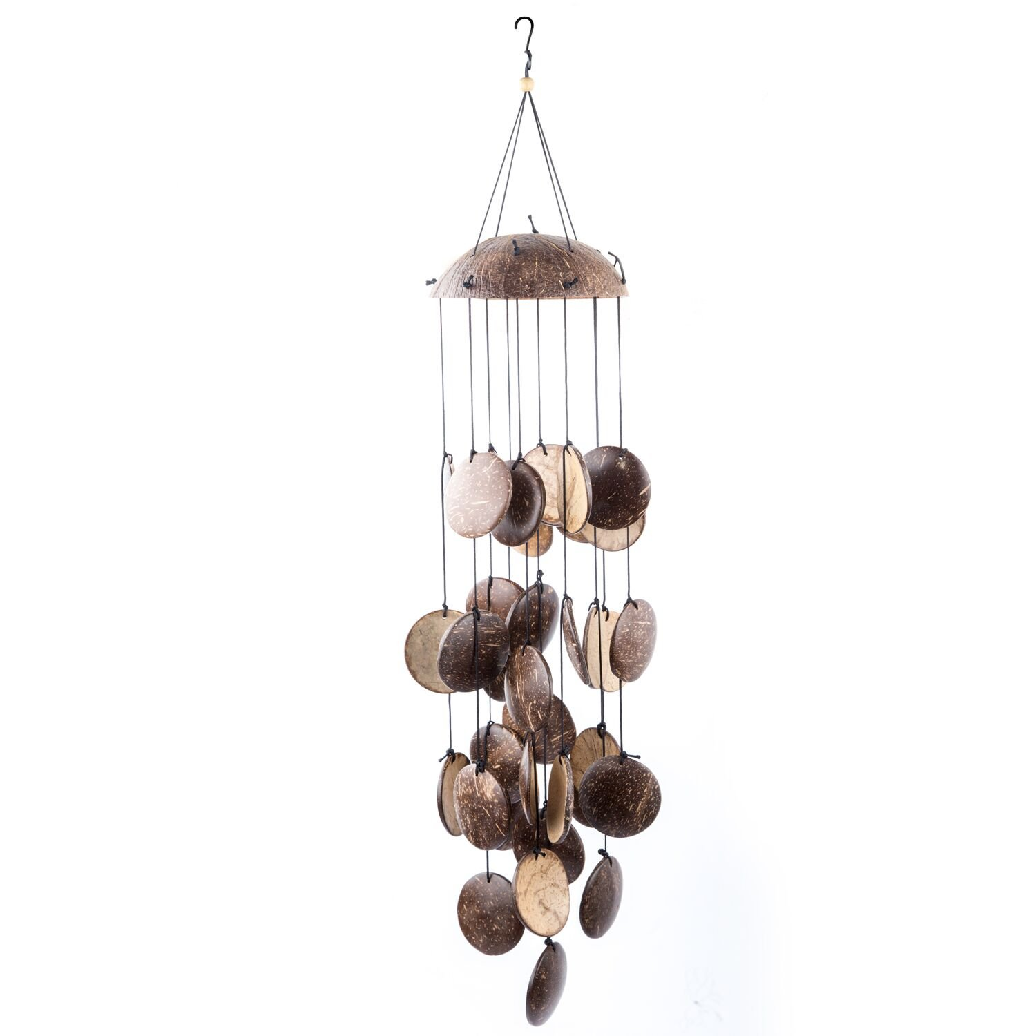 "Coconut Shell String Wind Chime, 29"" Wind Bell with Natural Sound,Perfect Gift for Patio,Garden, Balcony,Yard,Porch,Outdoor,Indoor Décor"