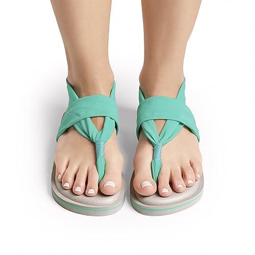 Sandalias Joy Colors Yoga Sling Color Green 37: Amazon.es ...