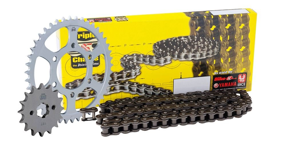 Yamaha WR125 R/X -Y, Z 09-10 Chain and Sprocket Kit (SPR155014 / SPR83953 / / CHH428134) Triple SSS Chain & JT sprockets JTKYWR1A