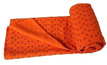 Yeying123 Alta Densidad Tienda Manta De Yoga Tienda De Yoga Yoga Toallas Toallas Antideslizante Esteras De Partículas Ambientales Ejercen Estera,Orange: ...