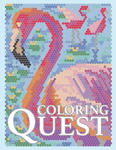 Coloring Quest: Activity Puzzle Color By Number Book for Adults Relaxation and Stress Relief (Color By Number Quest) (Volume 7)