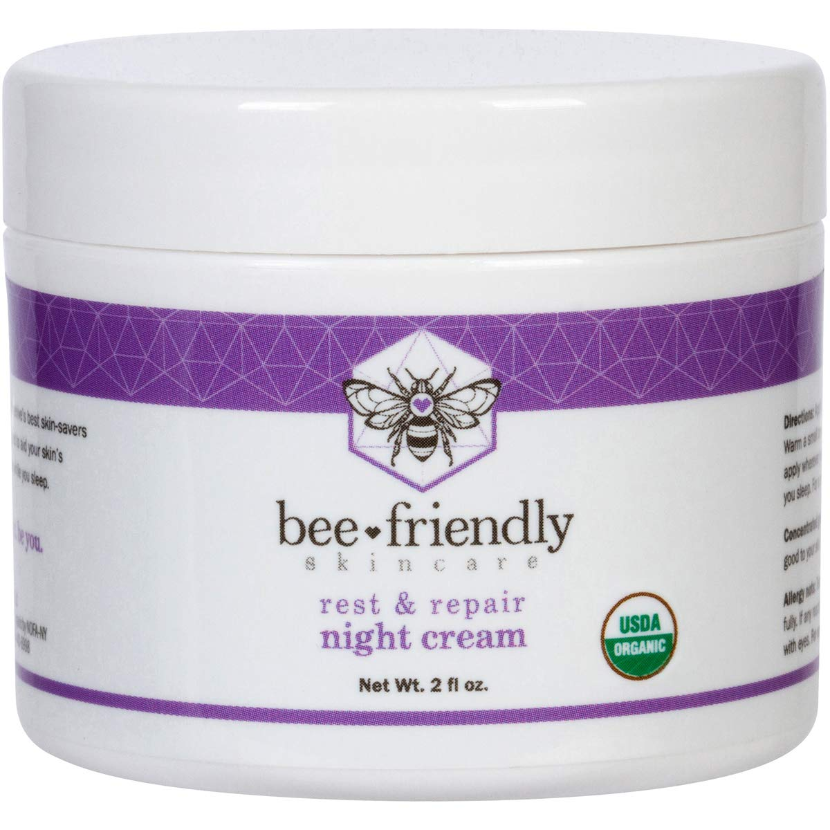 Best Night Cream Natural USDA Certified Organic Night Cream By BeeFriendly