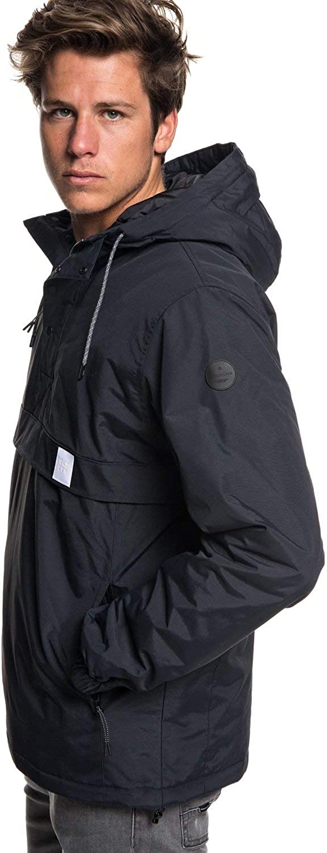 Quiksilver Men's TAZAWA Zip UP Jacket, Black, XXL: Clothing
