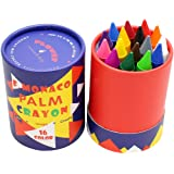 (16 Colors) - Pack of 16 Non Toxic Crayons, Easy To Hold Toddler Large Crayons ,Safe for Kids and Children Flower Monaco