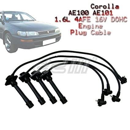 Amazon.com: 8mm Ignition Lead Spark Plug Wire Cable Toyota AE100 AE101 1.6 4AFE 16V Corolla: Automotive