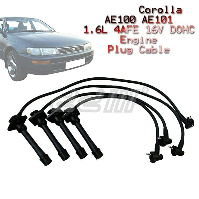 Cable de 8 mm de encendido para bujías Toyota AE100 AE101 1.6 4AFE 16 V Corolla: Amazon.es: Coche y moto