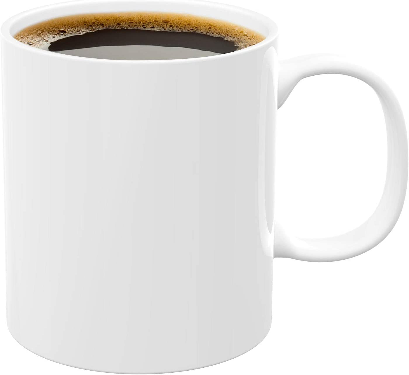 Coffee cup iwoxs Coffee Mug Warmer Replacement cup 430ml 14.5floz (white)