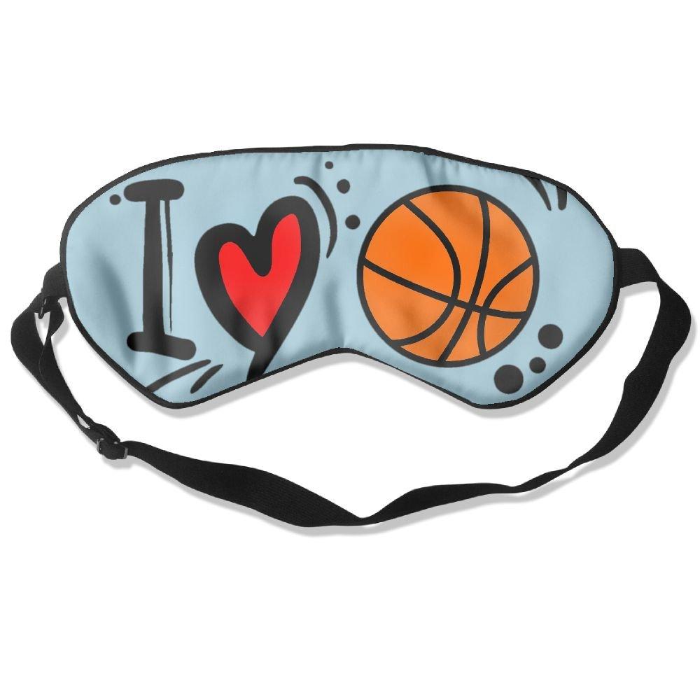 Sleep Mask I Love Basketball Eye Cover Blackout Eye Masks,Soothing Puffy Eyes,Dark Circles,Stress,Breathable Blindfold by MB32