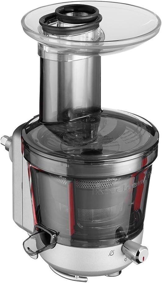 KitchenAid 5KSM1JA - Exprimidor (Exprimidor lenta, Plata, 1 L, De ...