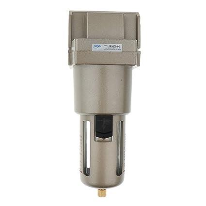 MagiDeal Filtro de Aire Particulado Compresor Agua Purificador de Trampa de Humedad Herramientas - Plata-