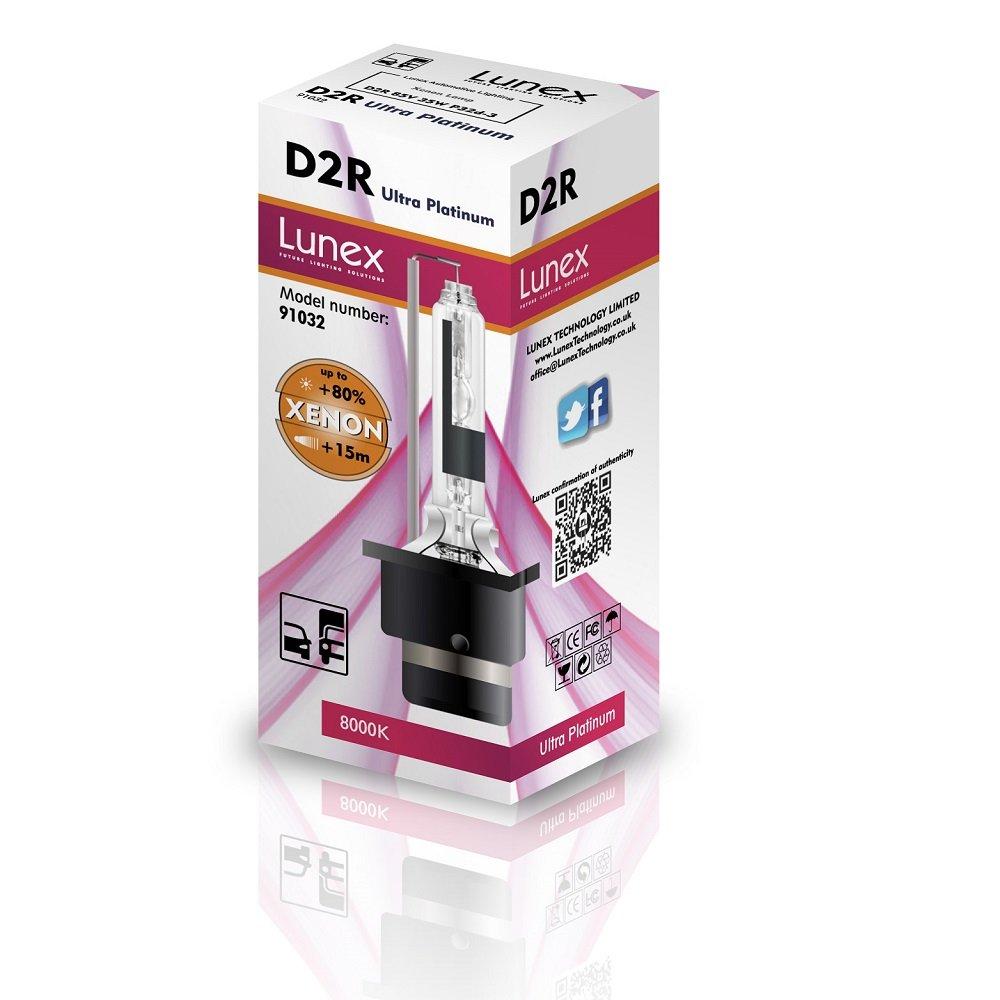 Lunex D2R L/ámpara para faros Xenon Replacement Bulb 8000K
